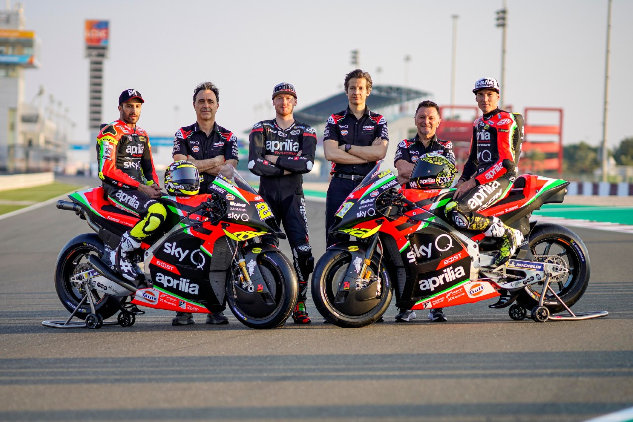 SAG TUBI SUPPORTS APRILIA RACING TEAM GRESINI